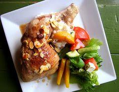 Kääpiölinnan köökissä: Levottomat jalat - broilerin koivet rusinoiden, persikoiden ja mantelin kera