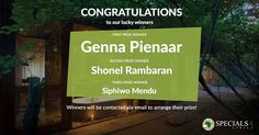DRUMROLL...... And the winners are......! #Prizewinners #competition #holiday #fun #explore @gen_pienaar @shonelrambaran @siphiwom First Prize, Holiday Fun, Tuesday, Competition, Congratulations, Africa, Explore, Instagram, Exploring