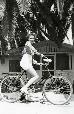 California bike ride, 1930s (reminds me of my Mom in New England and how she met my Dad)