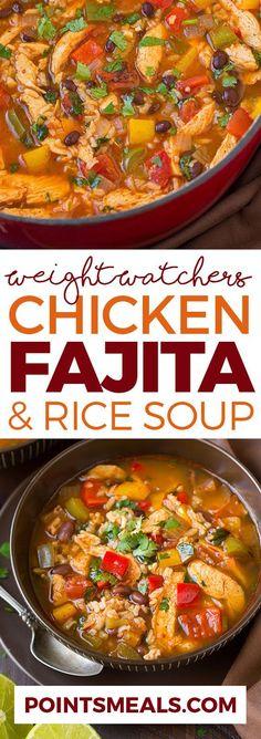 CHICKEN FAJITA AND RICE SOUP (WEIGHT WATCHERS SMARTPOINTS)