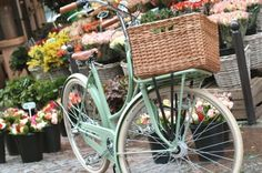 own a vintage bike with a basket for picking flowers while riding beside a meadow. Hmmm.. now where do I do that???