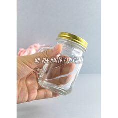 10 Mini Canecas Mason Jar Tampa Dourada