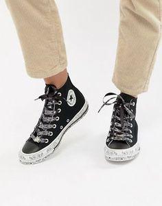 34c25ee61eb7e6 Converse X Miley Cyrus - Chuck Taylor All Star - Sneakers alte nere e  bianche con