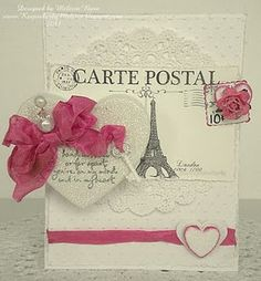 White Shabbiness with a touch of hot pink - Echo Park paper - by Melissa