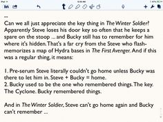 ...Oh.  I get it.  So you want to kill me.  Okay.  This is an efficient way to accomplish it.  I give you kudos for the idea.  EDIT: Steve can't go home because Bucky CAN'T remember...