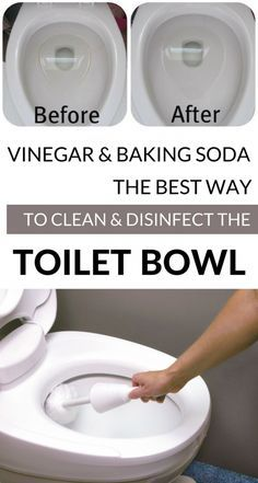 Vinegar And Baking Soda - The Best Way To Clean And Disinfect The Toilet Bowl - . Vinegar And Baki Deep Cleaning Tips, House Cleaning Tips, Diy Cleaning Products, Spring Cleaning, Toilet Cleaning Tips, Cleaning Supplies, Green Cleaning, Car Cleaning, Homemade Toilet Cleaner
