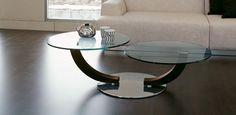 Cobra Inox skleněný konferenční stolek v moderním stylu / coffee table with glass top