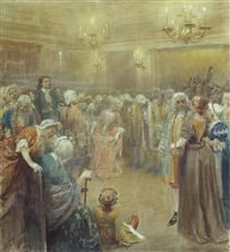 Assembly of Peter I - Klavdy Lebedev