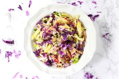 Light Coleslaw made with fresh vegetables and fruit juices. This healthy Coleslaw is full of fresh ingredients topped off with lemon and pineapple juice. Healthy Coleslaw Recipes, Best Coleslaw Recipe, Side Salad Recipes, No Mayo Coleslaw, Memorial Day Foods, Fresh Vegetables, Veggies, Healthy Vegetables, Vegetarian Cabbage