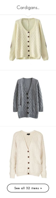 """""""Cardigans..."""" by foreverhungry-321 ❤ liked on Polyvore featuring tops, cardigans, sweaters, jackets, long cardigan, lightweight cardigan, grandpa cardigan, grandad cardigan, beige top and outerwear"""
