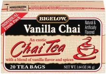 Vanilla Chai Tea... I make this almost every day!  I use about 3/4 milk, 1/4 water, put the teabag in the mug, and microwave for a little less than 2 min.  Add 2 tsp. sugar, and let steep for about 5 min.  I leave the teabag in while I drink... it gets better and better!  Whipped cream on top is extra delicious!