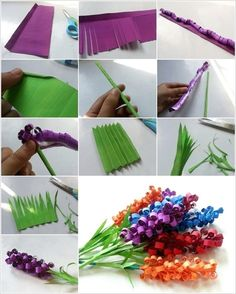Swirly-Paper-Flowers, craft for teenagers