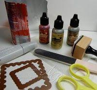 crafti, frames, metals, faux metal, art, craft idea, alcohol inks, cards, metal sheet