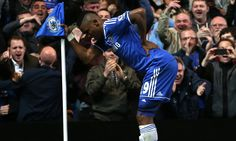 Samuel Eto'o showed he bears no hard feelings to Jose Mourinho over the Chelsea's boss's jibes about his age with a goal celebration mocking his OAP status. Football Celebrations, Celebrity Gist, Stamford Bridge, North London, Chelsea Fc, Old Men, Cool Things To Make, Dj, Poses