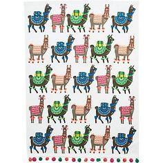 Llama Tea Towels -- I NEED THESE LIKE, YESTERDAY. <3