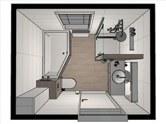 Below is a small bathroom design that stated that realistically meets a basic, minimal, modern-day and also luxurious interior style. Bathroom Layout, Modern Bathroom Design, Bathroom Interior Design, Bath Design, Bathroom Designs, Bathroom Ideas, Small Bathtub, Small Bathroom, Bathroom Showers