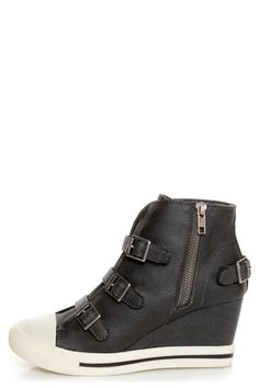 e0563d76b0559e R2 Ardsley Grey Buckled Wedge Sneakers -  69.00 Wedge Sneakers