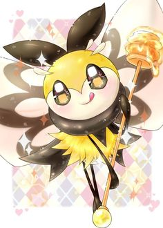 Ribombee will always take care of you. - Ribombee will always take care of you. Pokemon Memes, All Pokemon, Pokemon Fan, Cute Pokemon, Pokemon Stuff, Types Of Fairies, Fairy Types, Manga, Gym Leaders