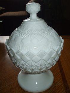Vintage Fenton Fine Cut And Block Pattern White by MarsAndBeyond, $15.99
