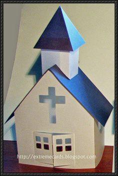 Little Paper Church Free Paper Model Download - http://www.papercraftsquare.com/little-paper-church-free-paper-model-download.html