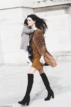 Except I'd probably swap out the boots for superga's.  Paris_Fashion_Week-Fall_Winter_2015-Street_Style-PFW-Over_The_knee_Boots-Suede_Coat-
