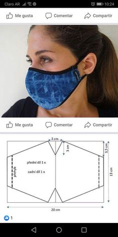 Small Sewing Projects, Sewing Hacks, Sewing Tutorials, Sewing Crafts, Easy Face Masks, Diy Face Mask, Dress Sewing Patterns, Sewing Patterns Free, Sewing Clothes