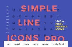 Simple Line Icons Pro by GraphicBurger on @creativemarket