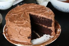 deep dark mocha chocolate cake: seriously the best. always moist. easy to make. it's our go-to birthday cake.