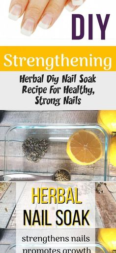 This easy at home nail soak is the perfect first step for your DIY manicure, and will help your nails grow longer fast! You can use herbs or essential oils and it works to repair dry, damaged or brittle nails. DIY nail soak strengthen nails naturally. #Valentinesnail #Beachnail #nailIdeas #Classynail #Chromenail #NaturalRemediesForHairLoss #OilForHairLoss