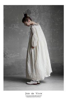 Mori Girl Fashion, Modest Fashion, Boho Fashion, Fashion Design, Moda Natural, Hijab Style Dress, Natural Clothing, Clothes Pictures, Japan Fashion
