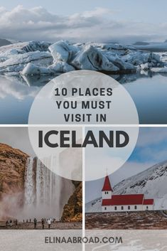 10 places you must visit in Iceland including beautiful landscapes, towns, waterfalls and beaches for the perfect road trip itinerary in Iceland! Iceland Travel Tips, Iceland Road Trip, Europe Travel Guide, Travel Destinations, Travel Guides, Best Places To Travel, Cool Places To Visit, Camping Places, Berlin