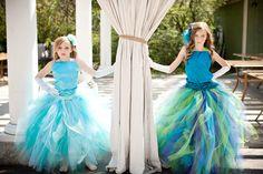 Peacock Pixie tutu dress. Green, purple, blues..Peacock Wedding...Flower Girl Dress..Vintage Photography Prop via Etsy