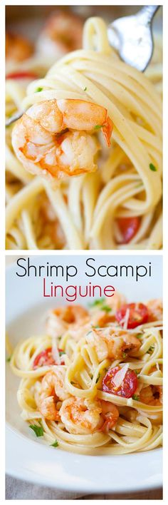 Shrimp scampi linguine - garlicky, buttery, quick & easy one pot meal for the family that you'll want everyday | rasamalaysia.com