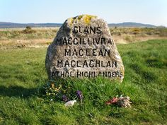 Culloden Battlefield, Scotland. Mass grave markers of Highlander clans killed in the short, brutal battle abound.