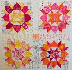 I've made the Swoon quilt once, but I'd love to do this as a block exchange, using various lights in the backgrounds of each block.