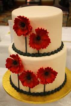 From our April 2013 bridal show: Love this punchy red cake from http://www.acmestores.com/acme-fresh-market-cakes/