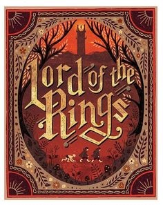 Hand-lettered, vintage-inspired, pen and ink and digital book cover style illustration for Lord of the Rings. Sold unframed, fits perfectly in a 11x14 frame. Printed on Epson heavyweight matte paper. Ships flat in a cello sleeve and flat mailer with a firm cardboard backing via USPS.