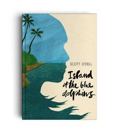 ISLAND OF THE BLUE DOLPHINS - LETTERING - Art direction : Lucia Calfapietra and Nicolò Giacomin - Illustration : Lucia Calfapietra @lucerosa