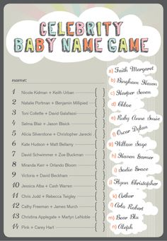 Baby shower game....we might have to save this for when @Alex Jones Atkinson Johnides has a baby!