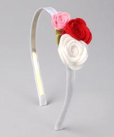 deadema con rosas en fieltro