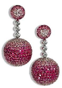 De Grisogono Pink Sapphire Boule Earrings