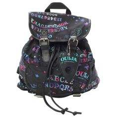 Ouija Galaxy Slouch Backpack | Hot Topic ($28) ❤ liked on Polyvore featuring bags, backpacks, accessories, slouchy backpack, backpacks bags, rucksack bag, slouch bag and slouchy bag