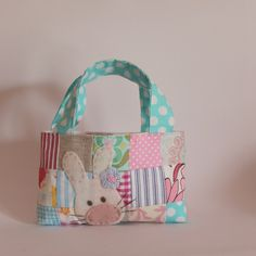 https://flic.kr/p/jTYrxK | Bag patchwork pink and blue easter blue spot handles blue flower1 | Blogged www.roxycreations.blogspot.com