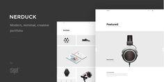 Nerduck - Minimal and Creative Portfolio Theme Free Nulled Download