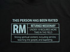 LDS T-Shirt. So funny! Can't be wearing anything like this at BYU, girls might just chase you ;) haha