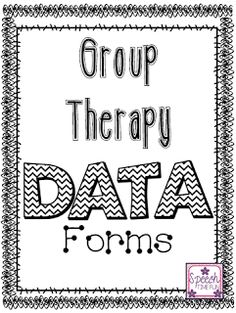 Speech Time Fun: Group Therapy Data Forms! (FREEBIE!) Pinned by SOS Inc. Resources. Follow all our boards at pinterest.com/sostherapy/ for therapy resources.