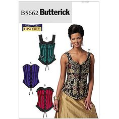 Butterick Pattern Misses' Corsets, EE (14, 16, 18, 20)