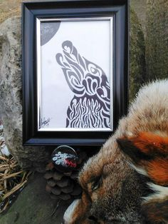 Check out this item in my Etsy shop https://www.etsy.com/listing/564343024/tribal-wolf-drawing
