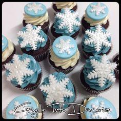 Cupcake flocos de neve!
