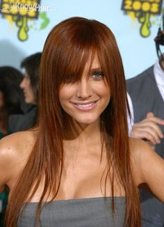 Love this red! Hairstyles for Thin Hair | Thin Hair Styles | Haircuts for Thin Hair